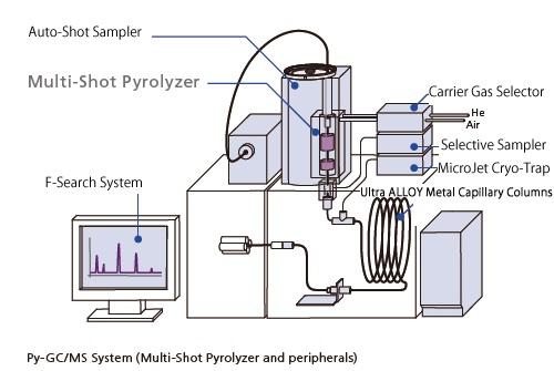 Cromatografía de gases masas (GCMS): Técnica pirólisis-cromatografía de gases (Py-GCMS)